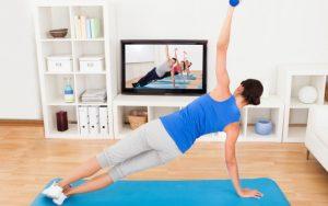Como fazer exercício em casa