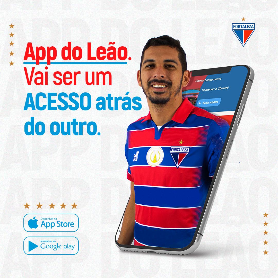 Baixe o app oficial do Fortaleza e acompanhe tudo sobre os jogos