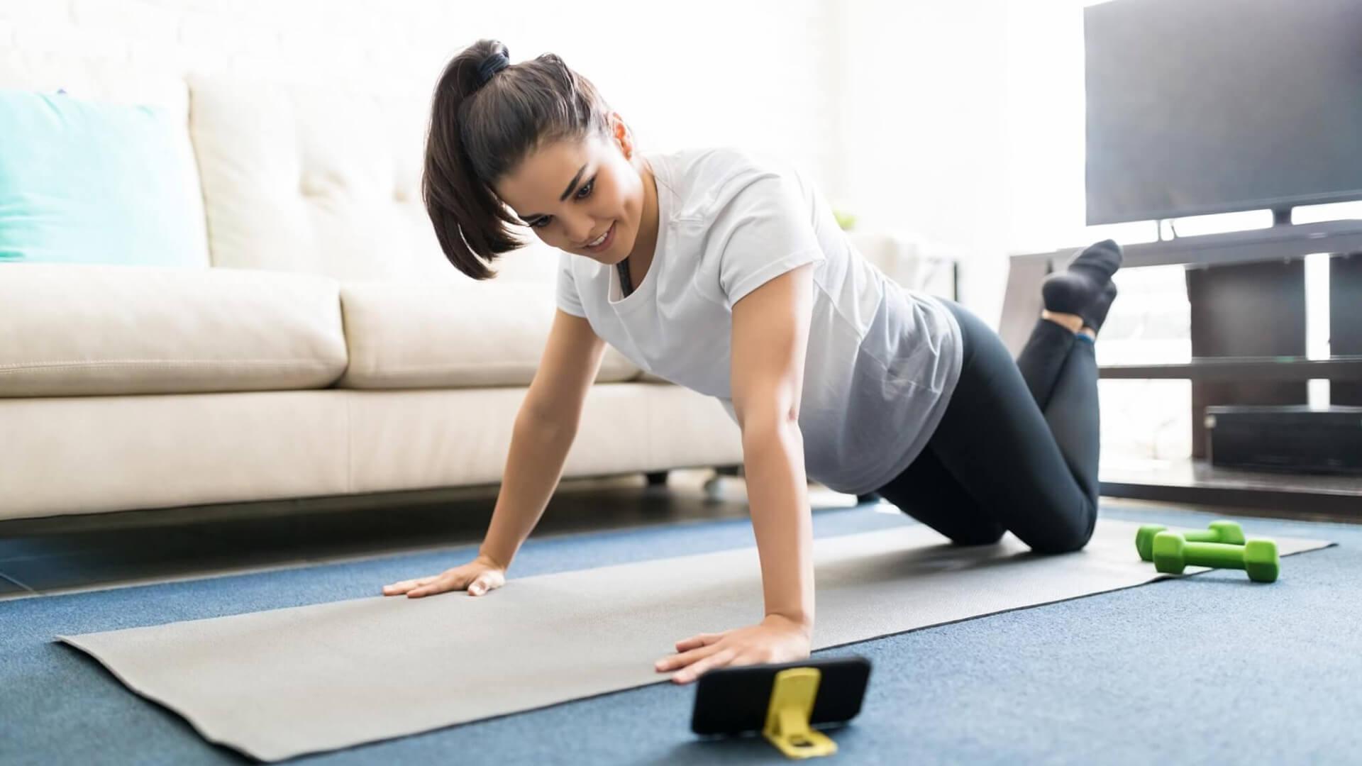 Aprenda como fazer exercício em casa