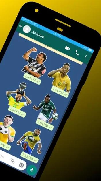 Figurinhas dos jogadores do brasileirão