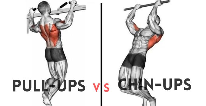 As principais diferenças entre chin-ups e pull-ups
