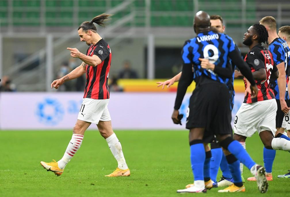Inter elimina o Milan em clássico com expulsão de Ibrahimovic