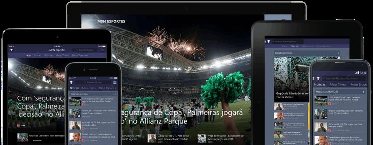 MSN Esportes - Não perca nenhuma partida com esta plataforma