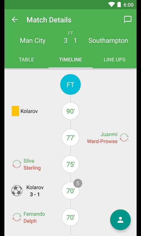 FootScores App - Acompanhe o placar e o resultado ao vivo